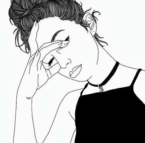 art, black and white, different, drawing, girls