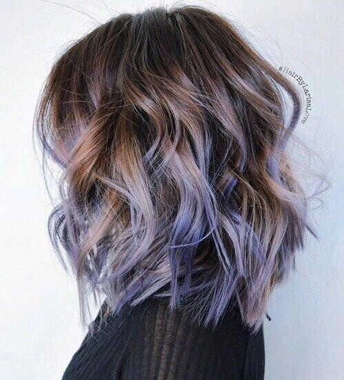 colorful hair, hair, tumblr girl, ombré color, hair goals