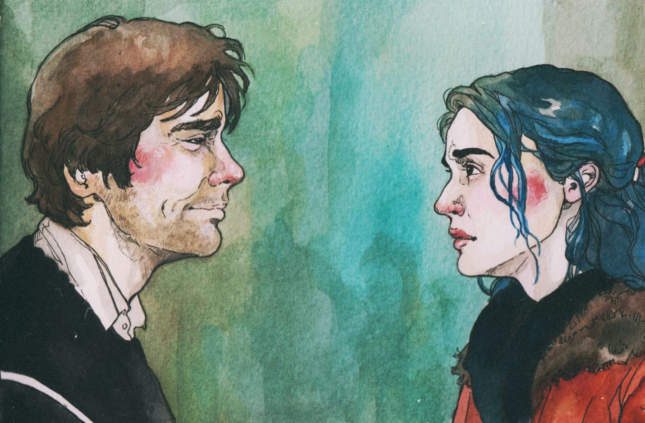 art, arte, couple, drawing, eternal sunshine of the spotless mind