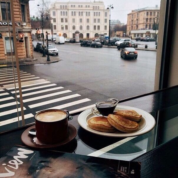 autumn, breakfast, cafe, cake, city