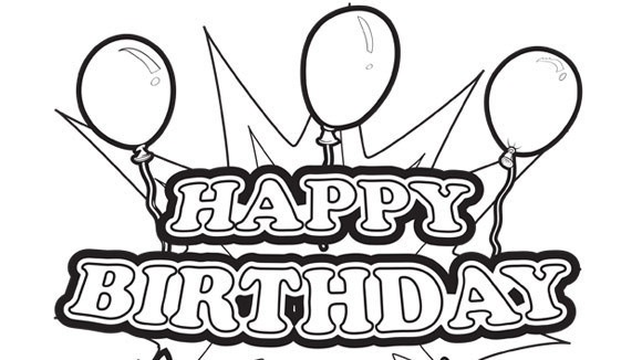 Birthday Coloring Pages - Doodle Art Alley | 326x580