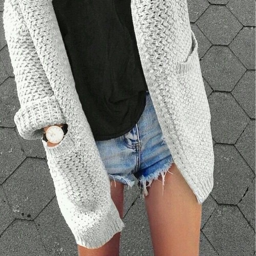 black, blue, cardigan, denim, fashion