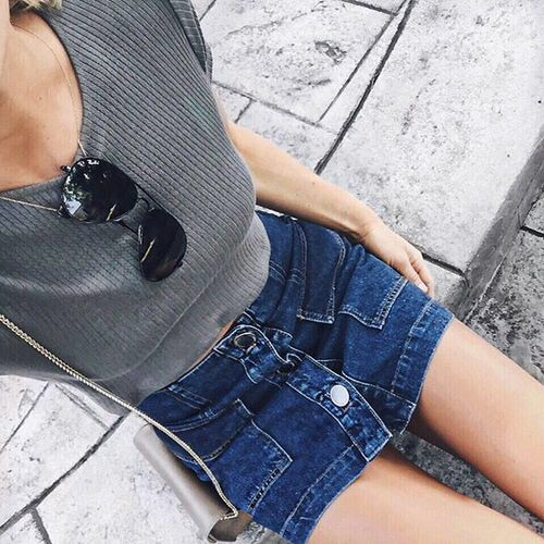 blue, denim, fashion, girl, girly