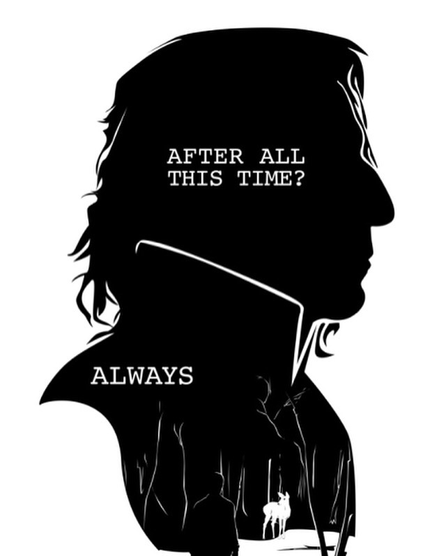 after all this time, always, black & white, harry potter, patronus