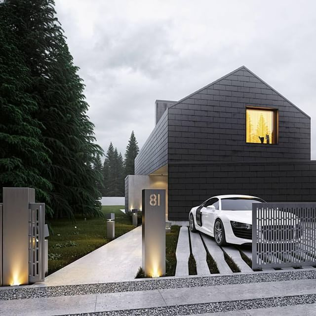 amazing, architecture, car, grey, home