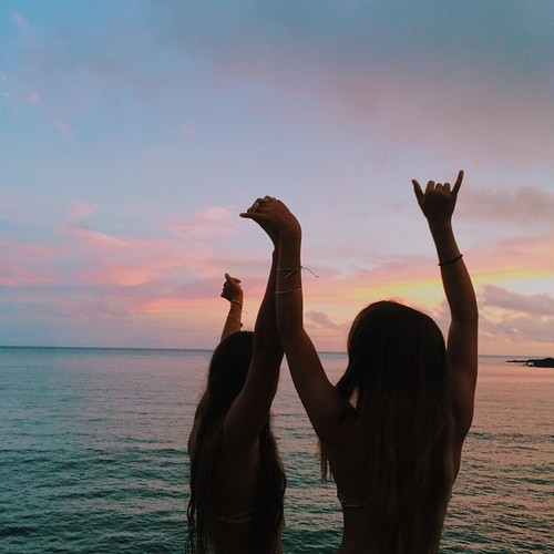 beach, beautiful, best friends, bff, bffs