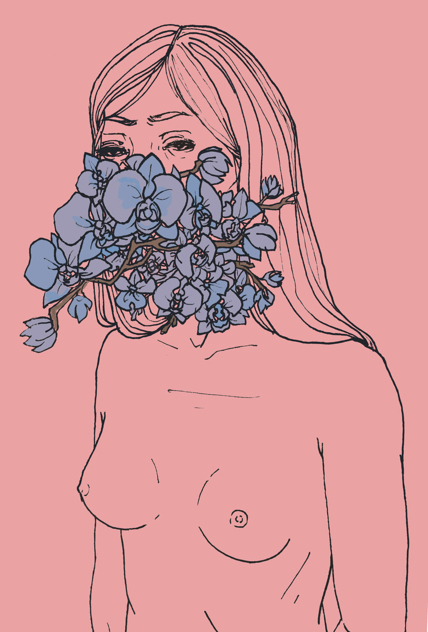 aesthetic, art, drawing, flowers, hipster