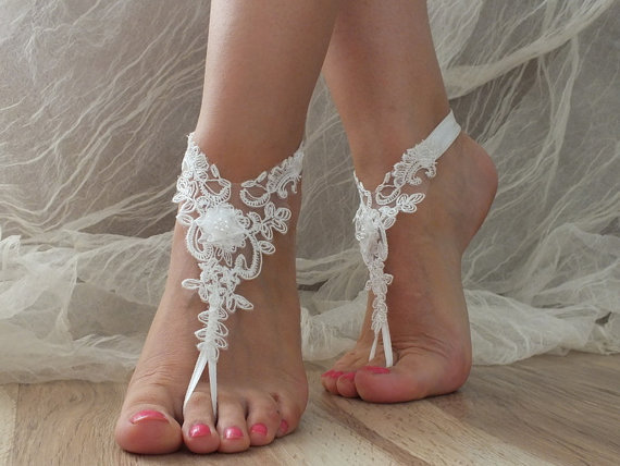 anklet, bangle, barefoot, beach wedding, bridal