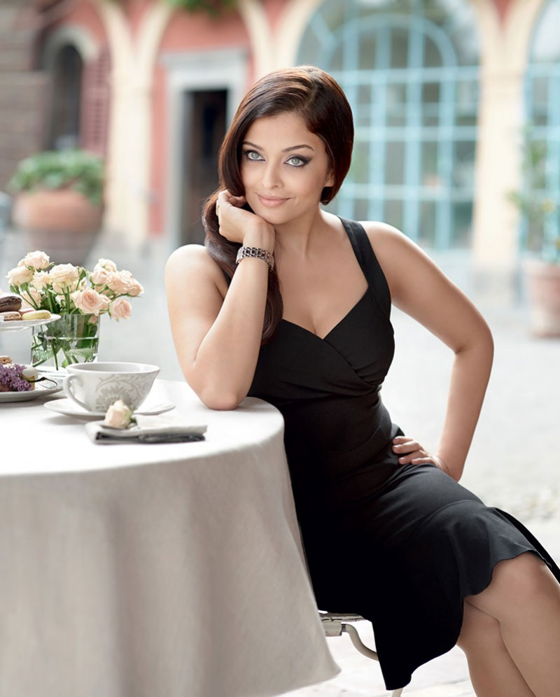 aishwarya rai, aishwarya rai bachchan, black, bollywood, dress