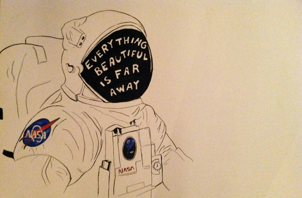 astronaut, beautiful, flyaway, planets, space