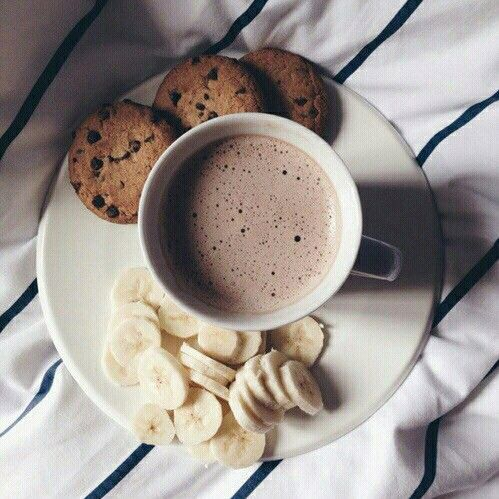 banana, chocolate, coffee, cookies, food
