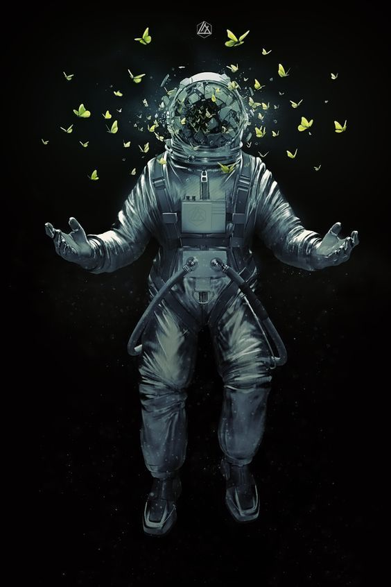 art, astronaut, creative, digital art, illustration