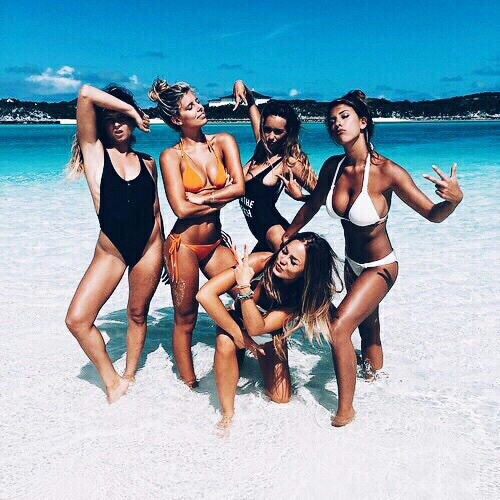 beach, bikini, body, fit, friends