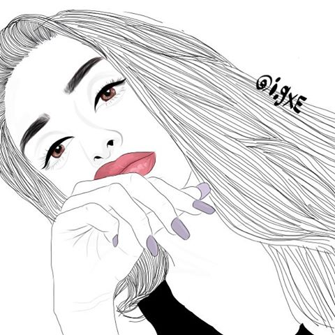 Art drawing girl girly outline image 4909795 by for Girly tumblr drawings