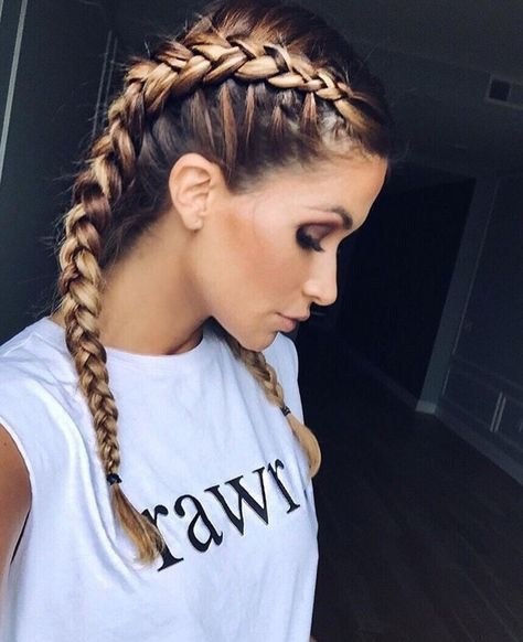 badass, blonde, braid, braided, braids