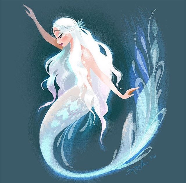art, beautiful, drawing, drawings, mermaid