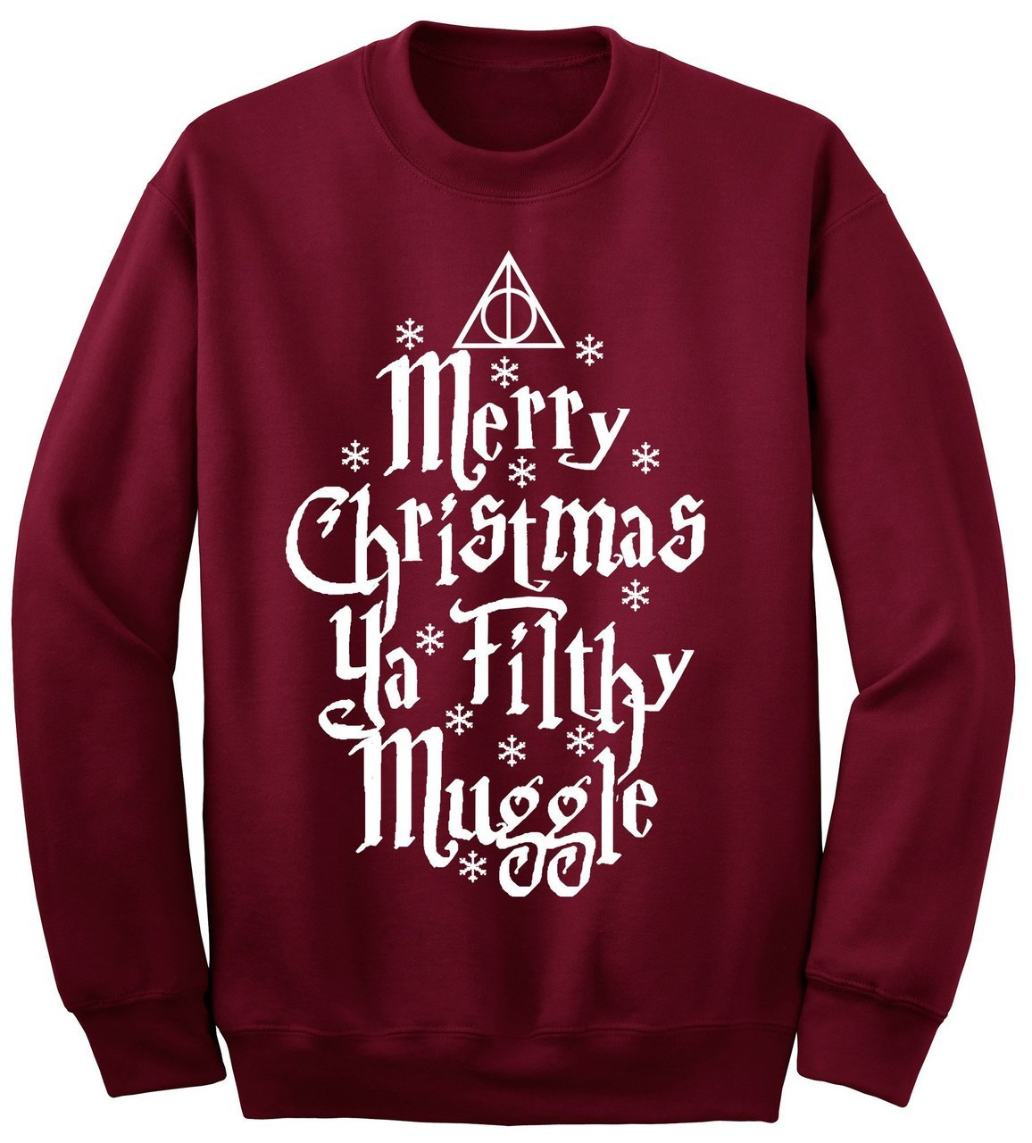 christmas, christmas sweater, filthy muggle, harry potter, holiday sweater