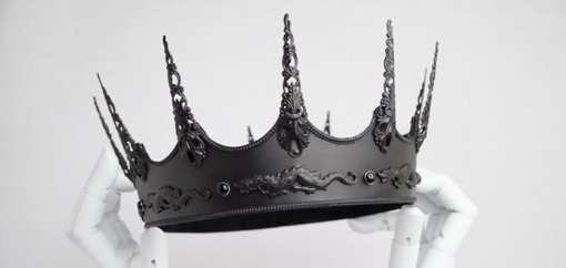 aesthetic, beauty, black, cool, crown