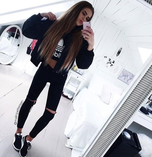 adidas, awesome, bedroom, black, brunette
