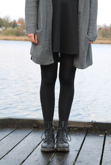 aesthetic, beautiful, black, boots, casual
