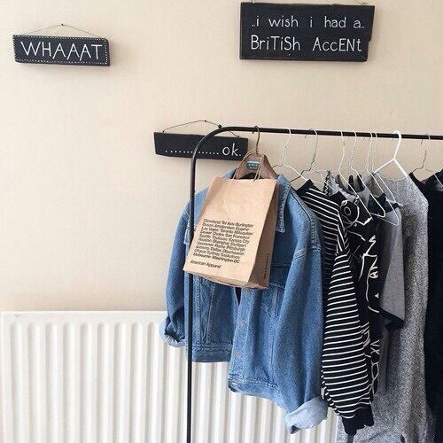 aesthetic, bedroom, british accent, closet, clothes