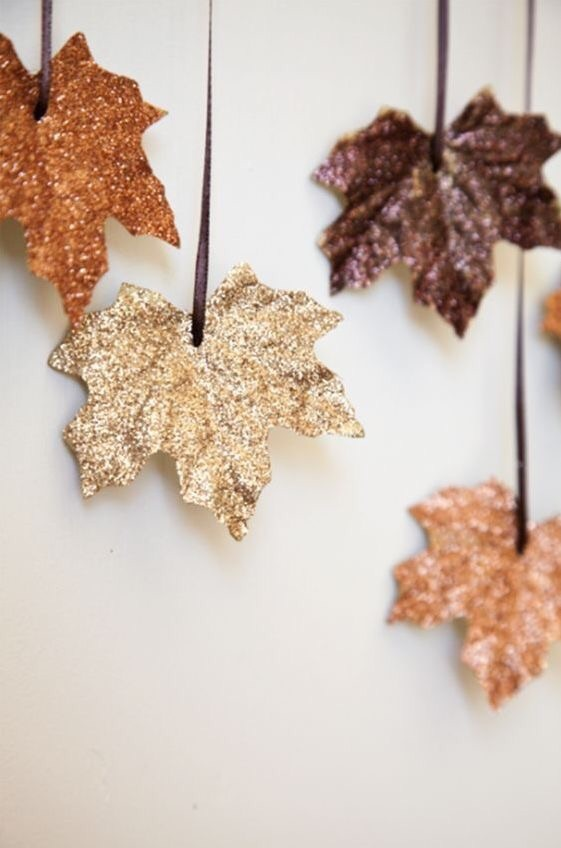 autumn, decoration, glitter, leaves, thanksgiving
