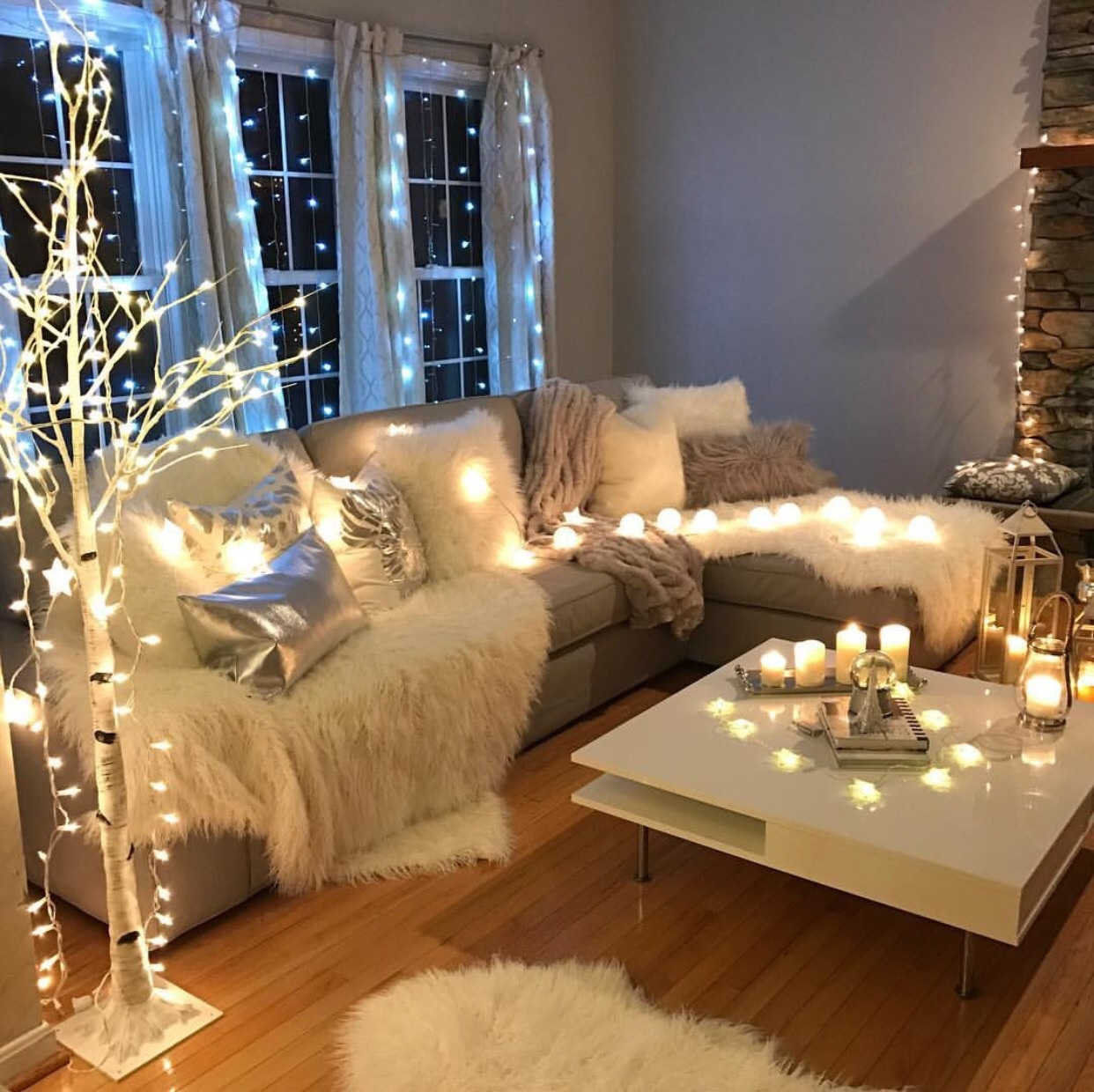 alternative, candles, christmas, christmas lights, christmas tree