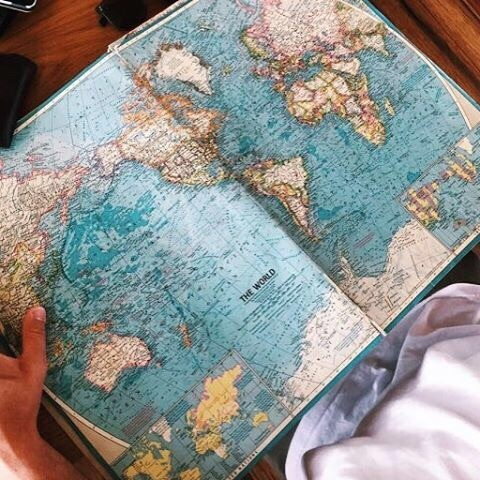 carte, map, monde, old, style