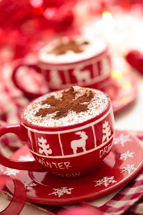chocolate, christmas, cocoa, cup, cute
