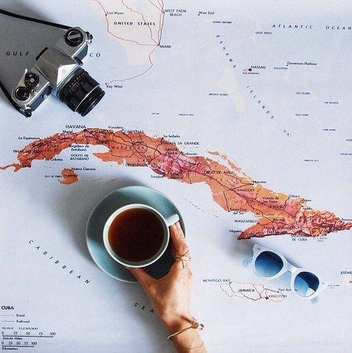coffee, map, photography, travel, travelling