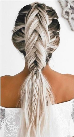 alternative, beauty, blonde, braid, chic