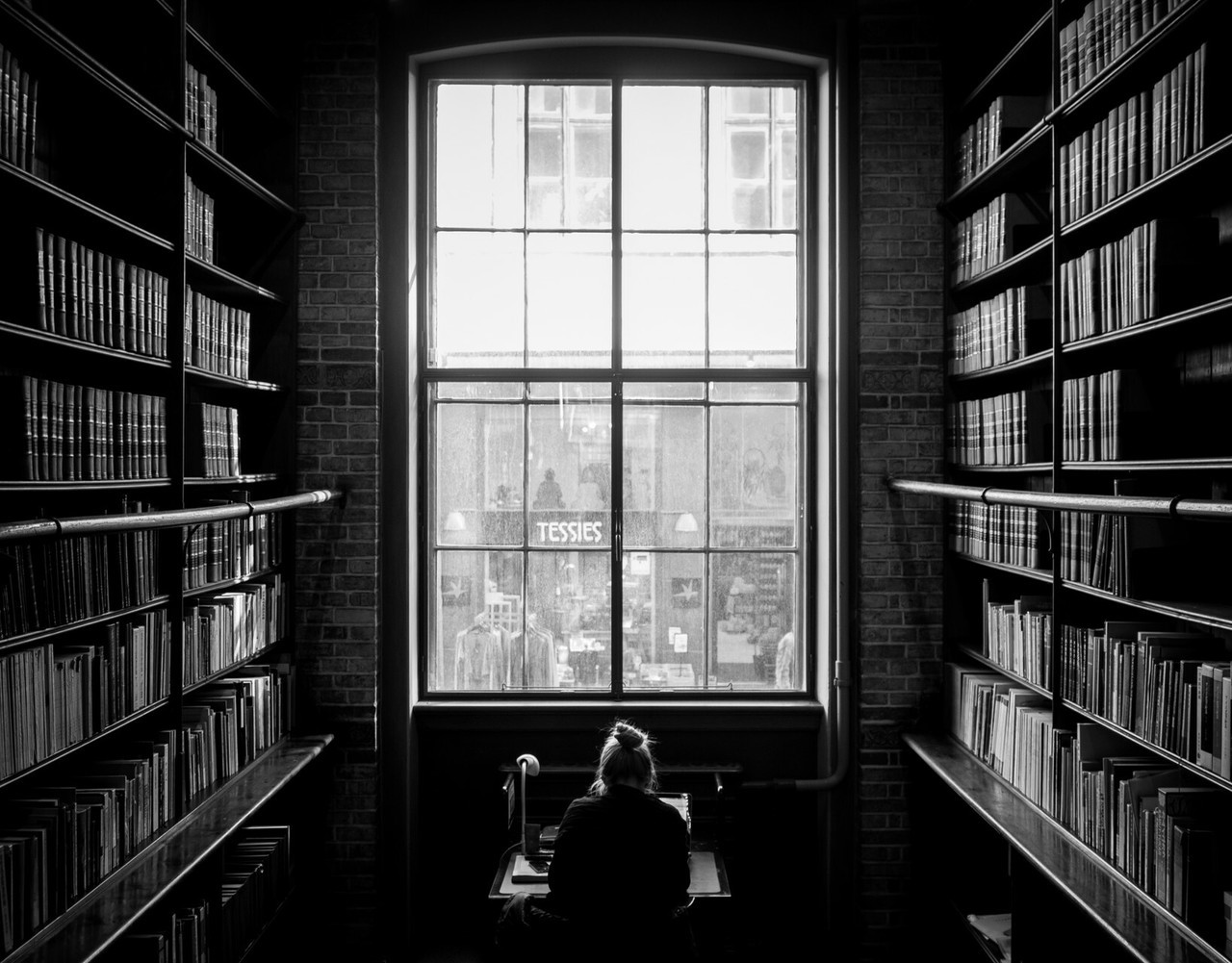 book, dark, library, reading, study
