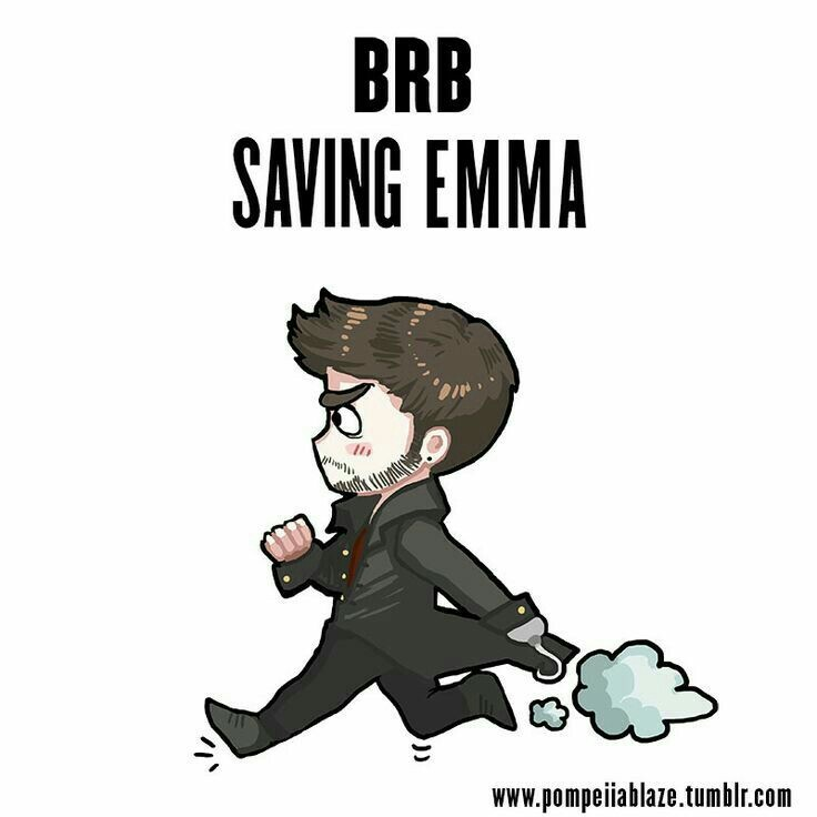 cute, emma, fanart, hook, once upon a time