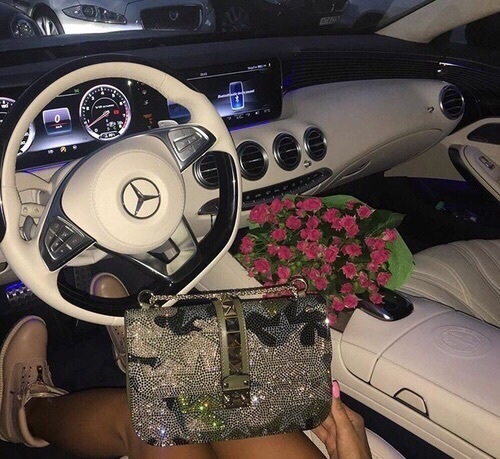 camouflage, cream, leather, mercedes, roses