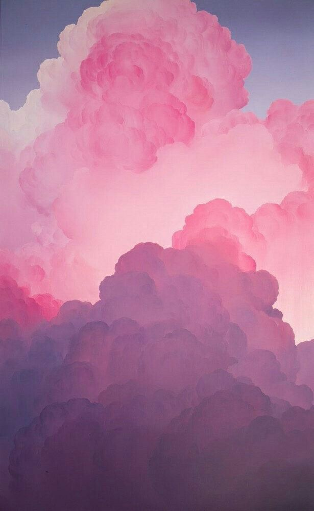 clouds, fly, high, pink, sky