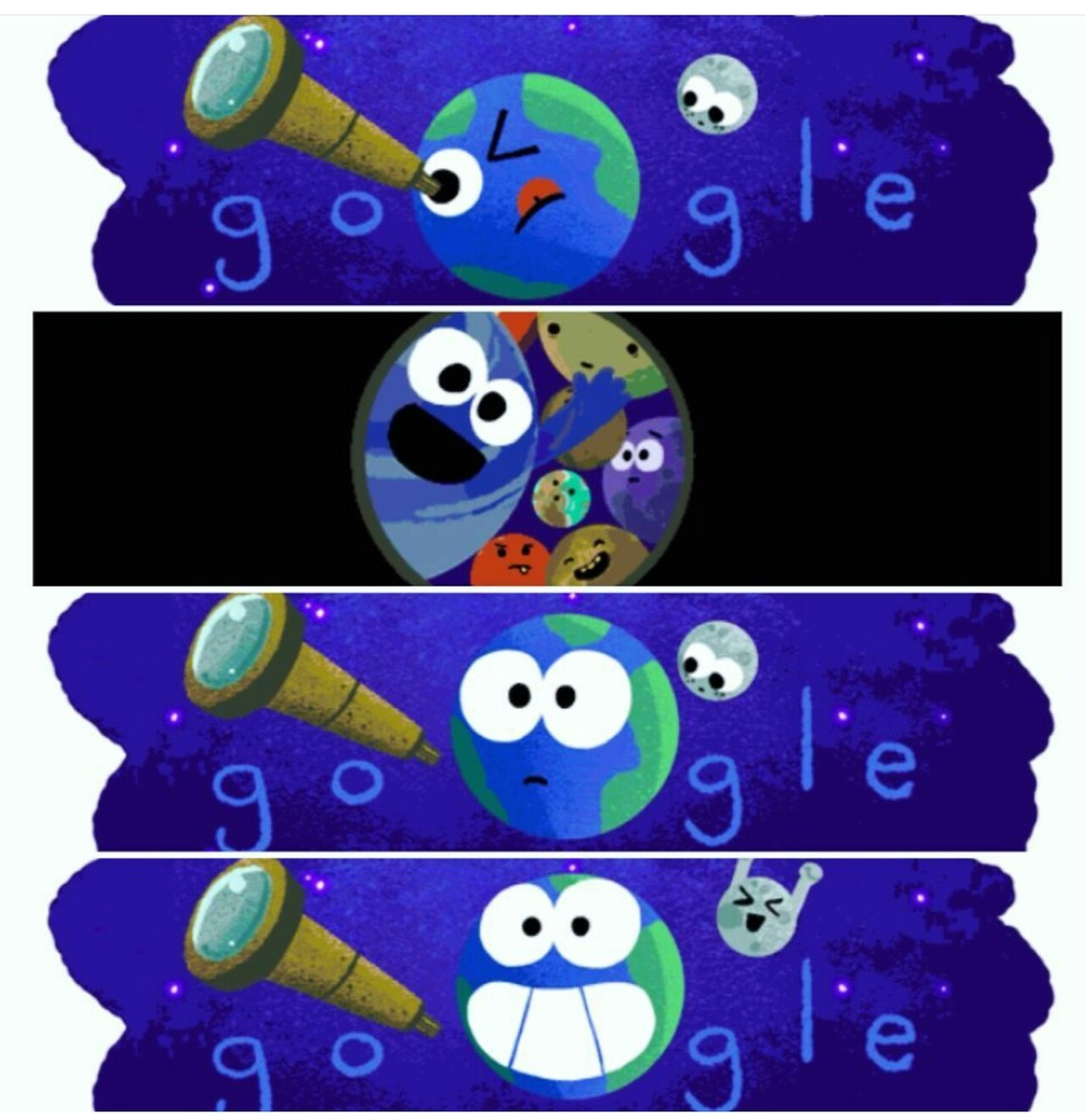 discovery, doodle, earth, exoplanet, google