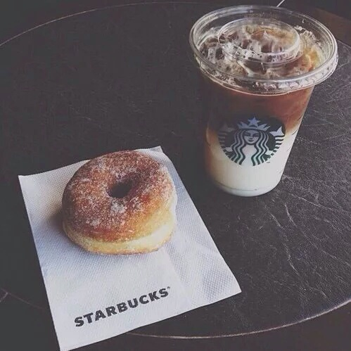 coffee, delicious, donut, donuts, starbucks