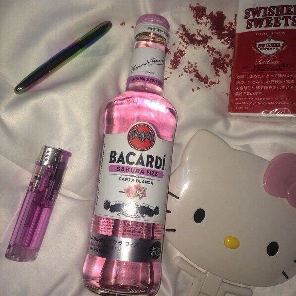 bacardi, bad, bed, booze, cute