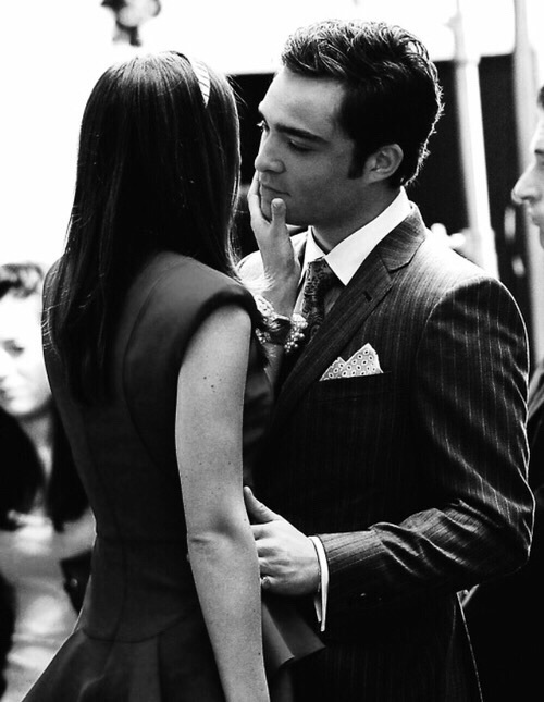 blair waldorf, chuck bass, couple, ed westwick, gossip girl