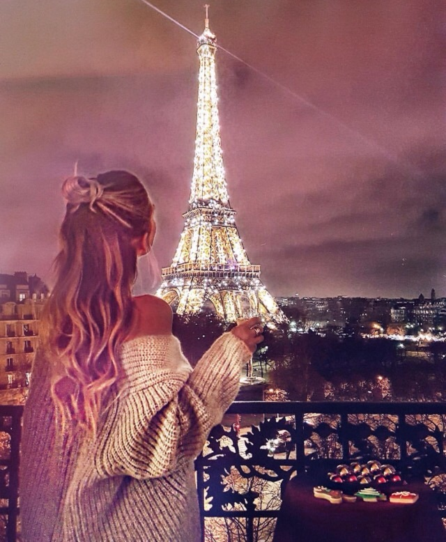 alternative, beauty, braid, chic, eiffel tower