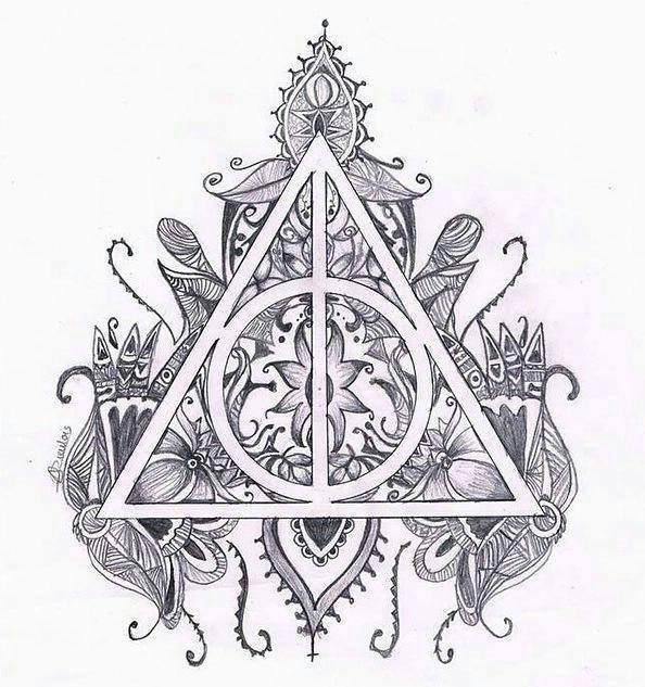 art, black and white, draw, drawing, harry potter