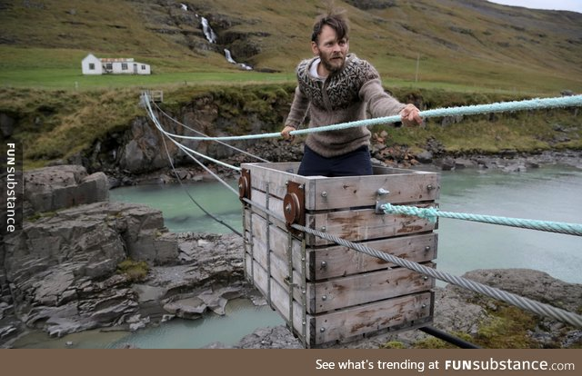 awesome, crossing, funny, humor, iceland