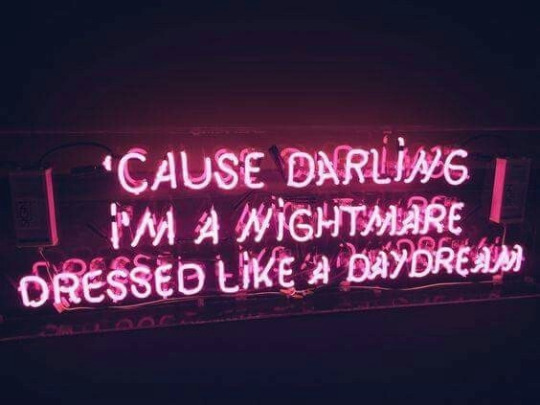 neon, neon lights, pink, quote, quotes