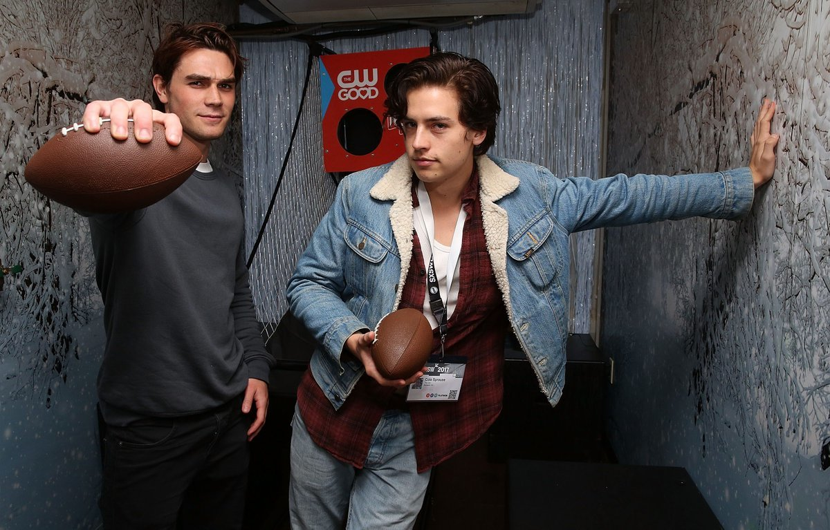 actor, cole sprouse, funny face, kj apa, k.j. apa