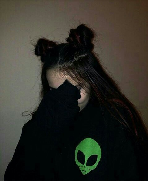 alien, alternative, black, black hair, cute