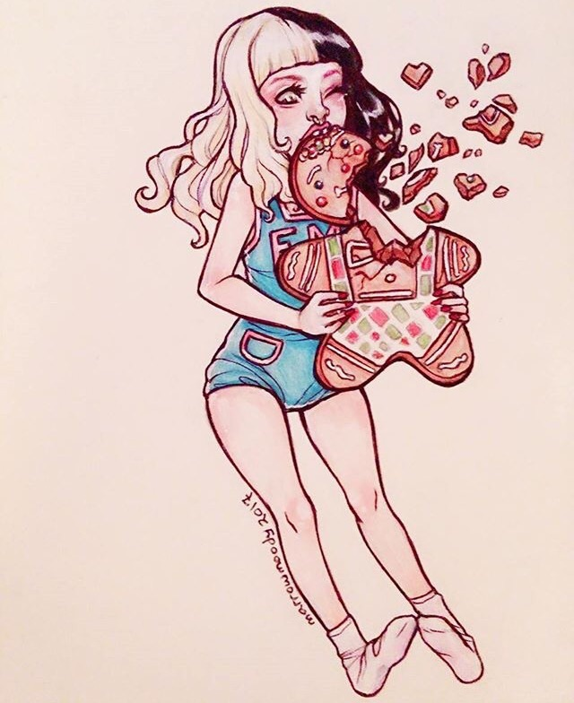 art, christmas, cookie, cry baby, fan art