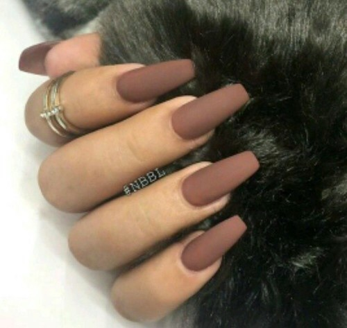 brown, matte nails, nails, nails art, nails polish