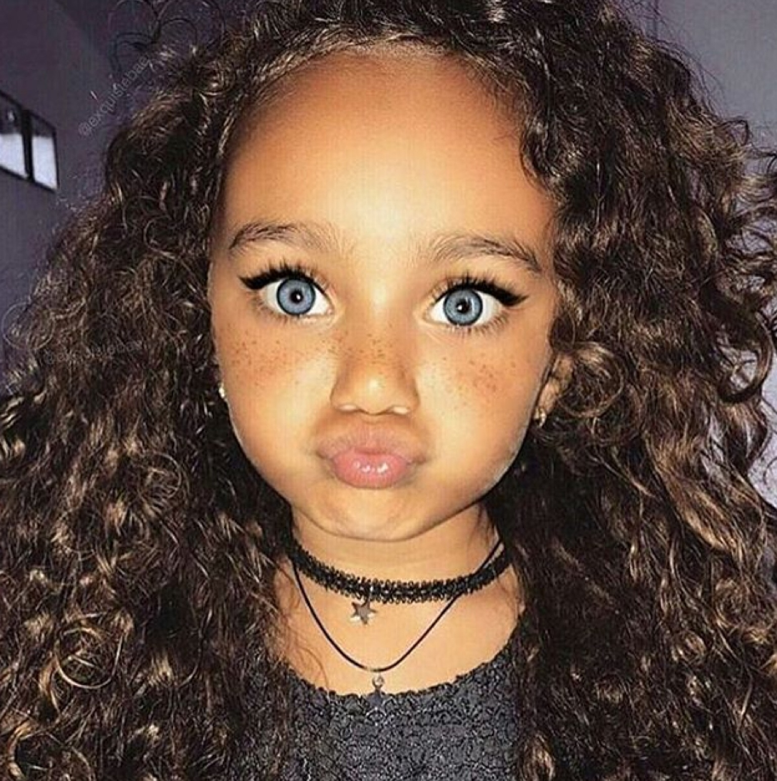baby, beauty, blue eyes, curls, curly