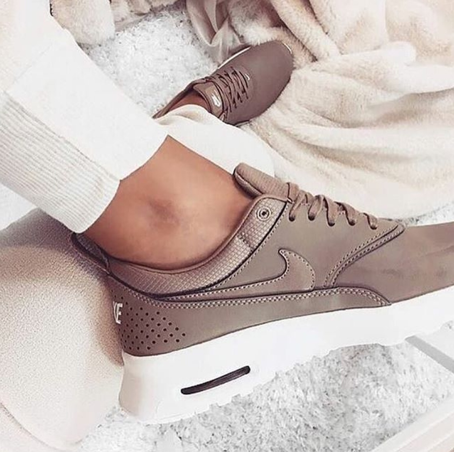brown, fashion, girl, nike, sneaker