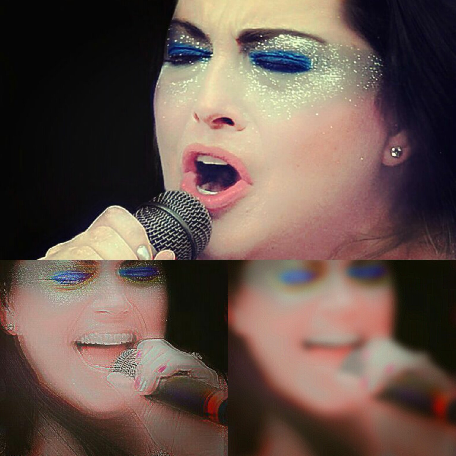 amy lee, beautiful, blue, collage, concert